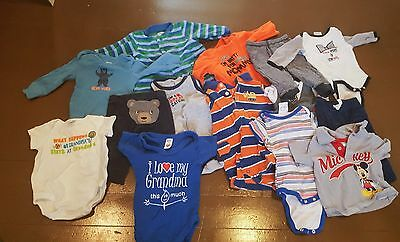 Baby Boy HUGE Lot 55+ pieces 3-6 months Bodysuits Pants Pajamas MORE