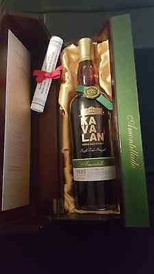 Kavalan Solist Amontillado Sherry Cask Single malt VERY RARE in box *No Reserve
