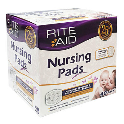 NEW Rite Aid Breastfeeding Nursing Pads 40 Pack Baby Feeding Accessories