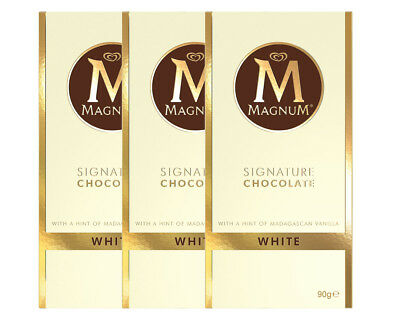 3 x Magnum Signature White Chocolate 90g