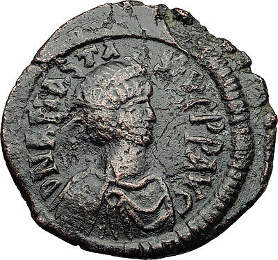ANASTASIUS 491AD Constantinople Follis Authentic Medieval Byzantine Coin i60660