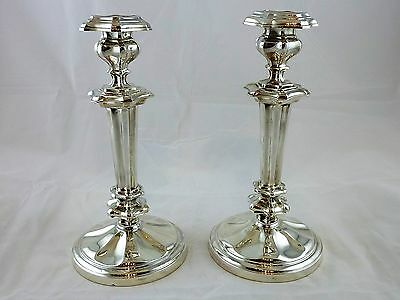 Pair of French sterling silver candlesticks