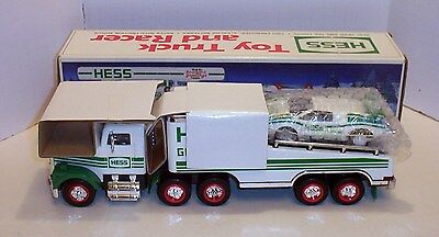 1991 Hess Tractor & Hauler With Racer   /  New Batteries Included  /   NIB