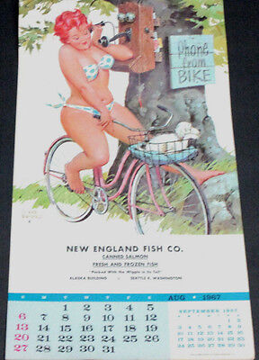 D. Bryers 'hilda' July/august 1967 Pinup Calendar Page