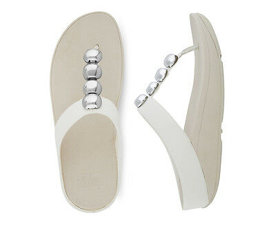 FitFlop Women's Rola Leather Sandal - White