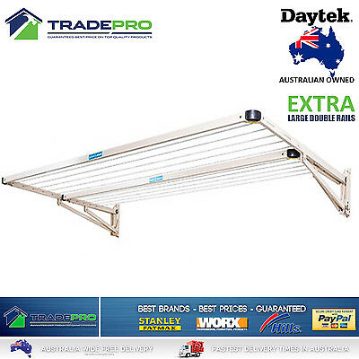 Double Folding Frame Clothesline Premium Fold Down Everyday Clothes Line