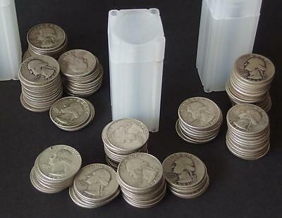 120 WASHINGTON SILVER QUARTER COINS Lot 98