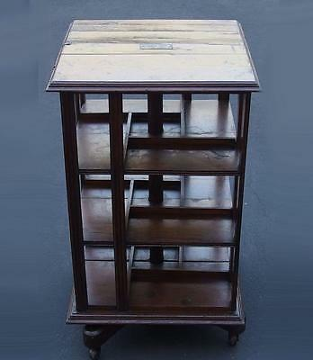 REVOLVING BOOKCASE SALVAGED WOOD HMS FOUNDROYANT Lot 299