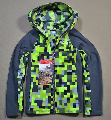 Nwt Boys Girls The North Face Todd Glacier Full Zip Jacket Coat Sz 2T 3T 4T