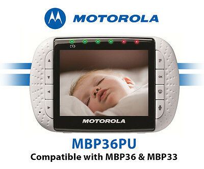 Motorola MBP36PU Wireless Video Baby Monitor Color LCD Screen (No Cameras Incl)