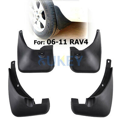FitFor Toyota RAV4 No Flares Mud Flaps 2006-2012 Guards Protector Front and Rear