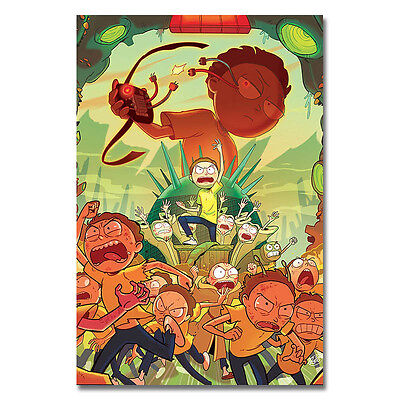 Rick and Morty Cartoon Art Silk Poster Wall Decoration 13x20 24x36 inch 018