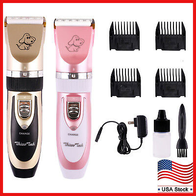Professional Mute Set Pet Dog Cat Fur Hair Cordless Trimmer/Clipper/Shaver Kit