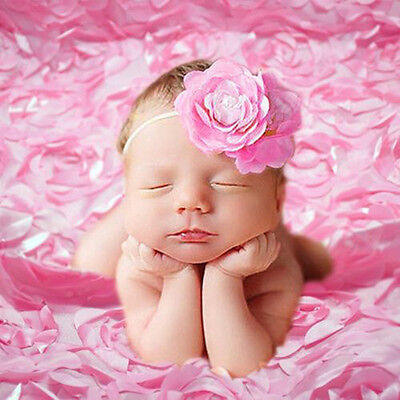 3D Rose Flower Photography Backdrops Photo Background For Baby Kid Studio Props