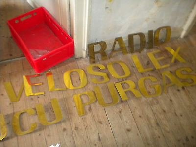 Vintage French 1970s designer Shop letters x 23 20cm tall brass period font