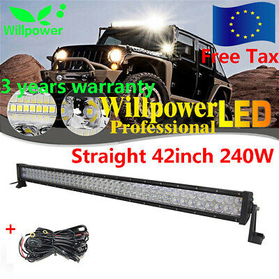 42Inch 240W Led Work Light Bar Spot/flood Tractor Jeep Suv Off Road 4Wd Lamp Atv