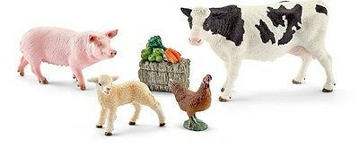 Farm Animals Figures, Toys Collectibles Kids Plastic Playsets Display Decor NEW