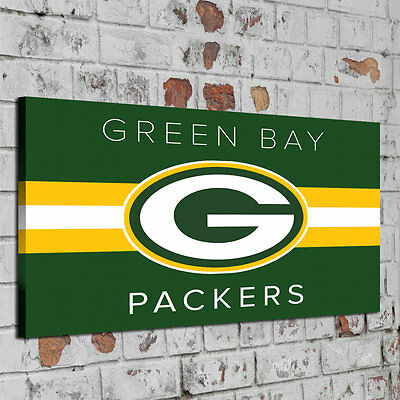 Oil Painting HD Print Wall Decor Art on Canvas Green Bay Packers Unframed