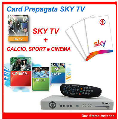 SKY Prepagata TV HD TRE GENERI CALCIO, SPORT e CINEMA - 12 MESI + DECODER