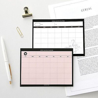 ICONIC Sticky Monthly Planner Sticky Note Memo Pad Stationery Office Supplies