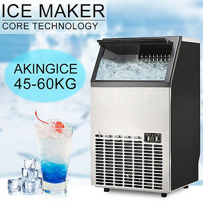 Under Counter Ice Cube Maker Machine Commercial Stainless Steel 45-60KG/24 HR