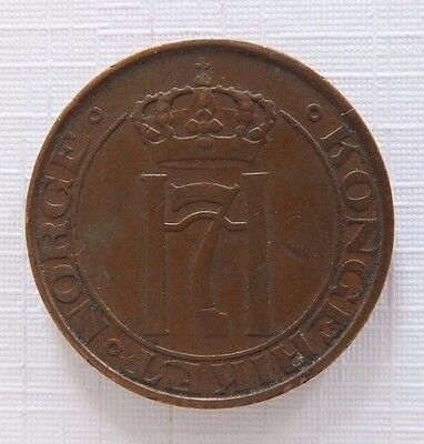 1938 Norway 5 Ore Coin B2
