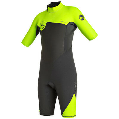 Quiksilver Syncro Boys Shorty Wetsuit, Safety Yellow