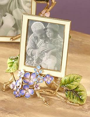 JAY STRONGWATER PICTURE Colbie Hydrangea Frame | 14K gold Antique Finish - NEW