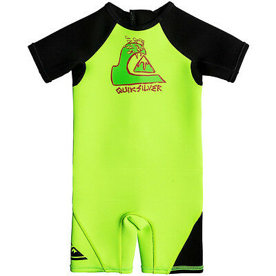 Quiksilver 1.5mm Boys Toddler Shorty Wetsuit, Green Flash
