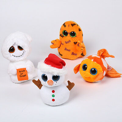 Lovely Beanie Boos Squeaker Snowman with Stuffed Animal Plush Toy Children Gift