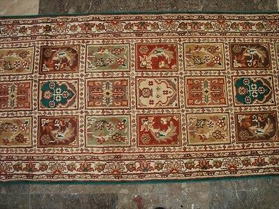 Bakhtiari Fine Runner Hand Knotted Rug Wool Silk Carpet 5.10X2.0 Rare Exclusive