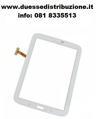TOUCH SCREEN VETRO PER SAMUNG GALAXY NOTE 8.0'' GT N5100 Bianco Nuovo