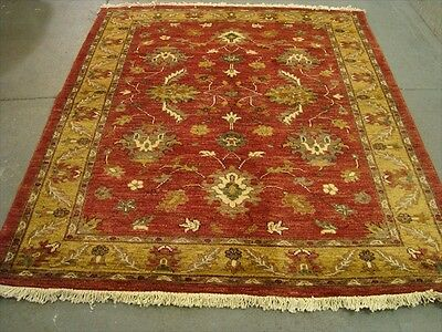 EXCLSUIVE RARE CHOBI VEGE DYED MAHAL ZEIGLER HAND KNOTTED RUG CARPET 7.7x6.7
