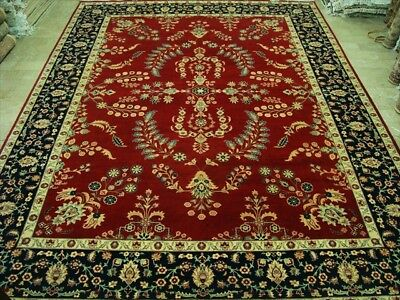 Red Kasha Exclusive Hand Knotted Fine Carpet 9X12 Art