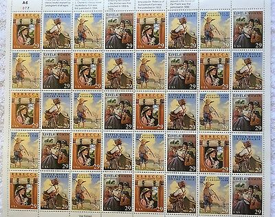 US Sheet 29¢ Stamps (40) CLASSIC BOOKS 1992 face $11.60 MNH #2785