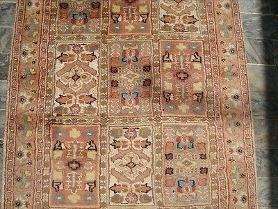 Exclusive Bakhtiari Rectangle Area Rug Hand Knotted Wool Silk Carpet 5.2 x 2.11