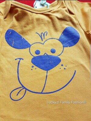 NEW M&Co baby boy cute yellow long sleeve puppy dog top t shirt Age 12-18 Months