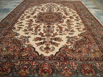 Exclusive Amazed Sarafian Floral Hand Knotted Rug Wool Silk Carpet 6X4 Fb-1255