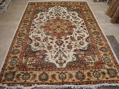 Wow Exclusive Awesome Medallion Flowral Hand Knotted Rug Wool Silk Carpet 9X6