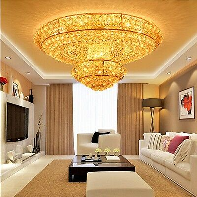 crystal chandelier LED Ceiling Fixture Curtain pendant lamp hang hall light 2l