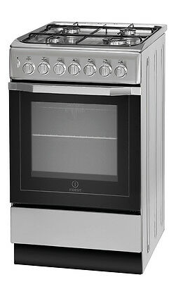 Indesit I5GSH1S Cooker - Silver