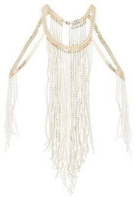 NEW LOOK gold pearl fringe Summer/Holiday body chain! RRP £20