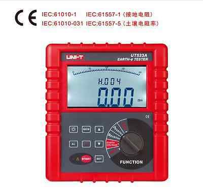 Digital 2/3/4 Pole Earth Ground Ohm Volt Soil Resistivity Tester Meter RS232