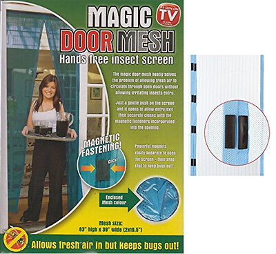 Magic Door Mesh Magnetic Fastening Magnetic Fly Screen Bug Insect Curtain