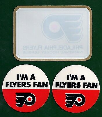 Vintage Philadelphia Flyers NHL Hockey Decal & Stickers Lot of (3)