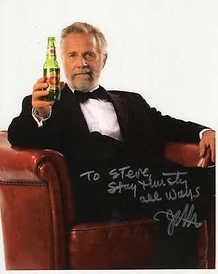 JONATHAN GOLDSMITH SIGNED 8x10 PHOTO    MOST INTERESTING MAN IN WORLD   TO CHRIS