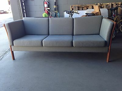 STOUBY Vintage Rare Mid-Century MCM Danish Modern Sanne 3 Seat Sofa couch