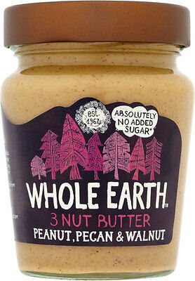 Whole Earth Peanut, Pecan & Walnut 3-Nut Butter 227g