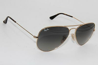 58941b3167 RAY-BAN RB 3025 Aviator 181 71 Gold Gradient Authentic Sunglasses 58 ...