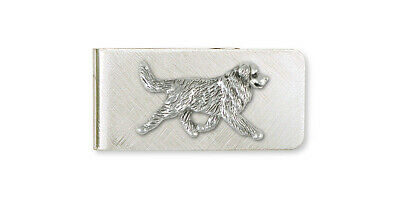 Bernese Mountain Dog Money Clip Jewelry Sterling Silver Handmade Dog Money Clip